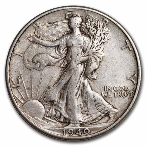 1940 Walking Liberty Half Dollar XF