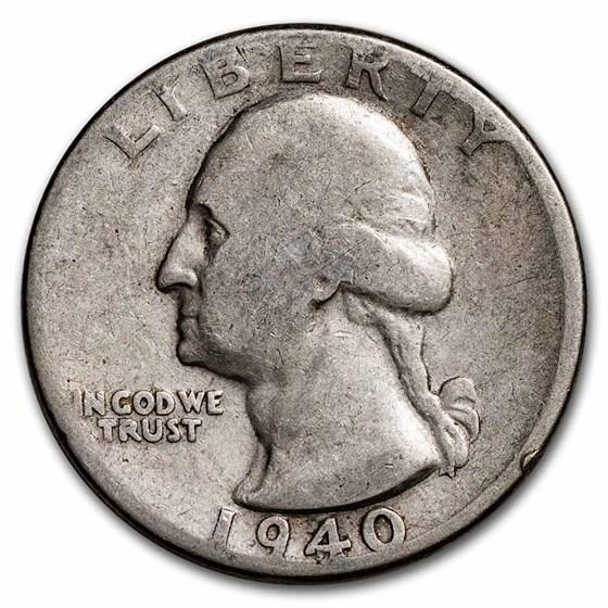 1940 Washington Quarter Good/VF