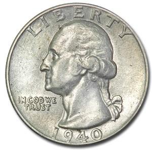 1940 Washington Quarter XF