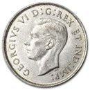 1941 Canada Silver 50 Cents George VI AU