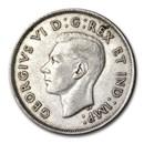 1941 Canada Silver 50 Cents George VI XF
