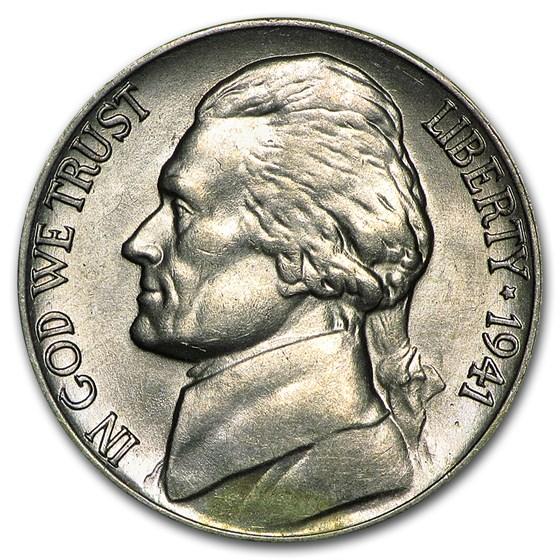 1941-D Jefferson Nickel BU