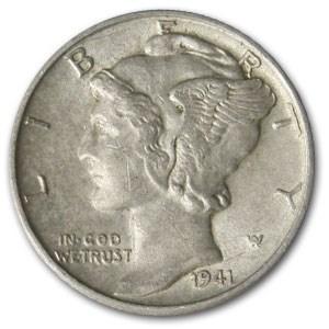1941-D Mercury Dime AU