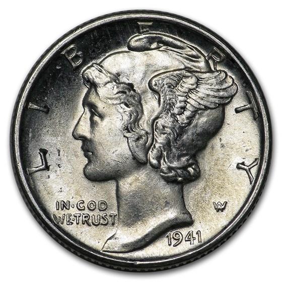 1941-D Mercury Dime BU