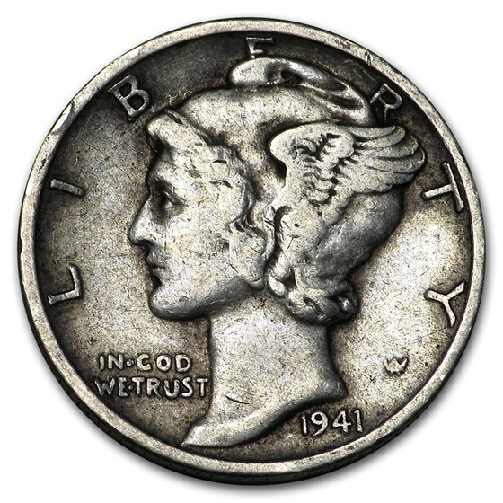 1941-D Mercury Dime Good/VF