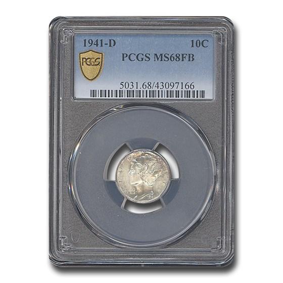 1941-D Mercury Dime MS-68 PCGS (FB)