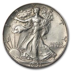 1941-D Walking Liberty Half Dollar AU