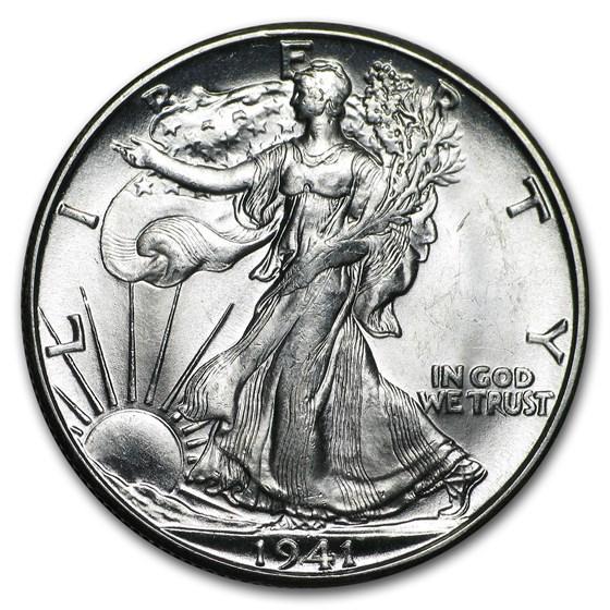 1941-D Walking Liberty Half Dollar BU
