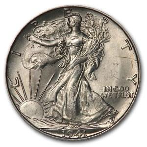 1941-D Walking Liberty Half Dollar MS-64