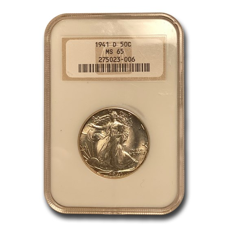 1941-D Walking Liberty Half Dollar MS-65 NGC