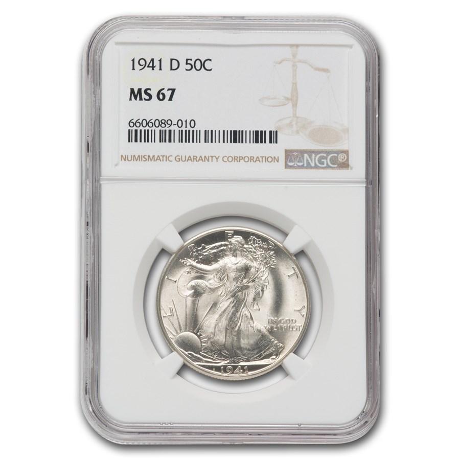 1941-D Walking Liberty Half Dollar MS-67 NGC
