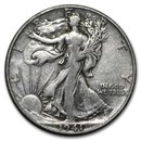 1941-D Walking Liberty Half Dollar VG/VF