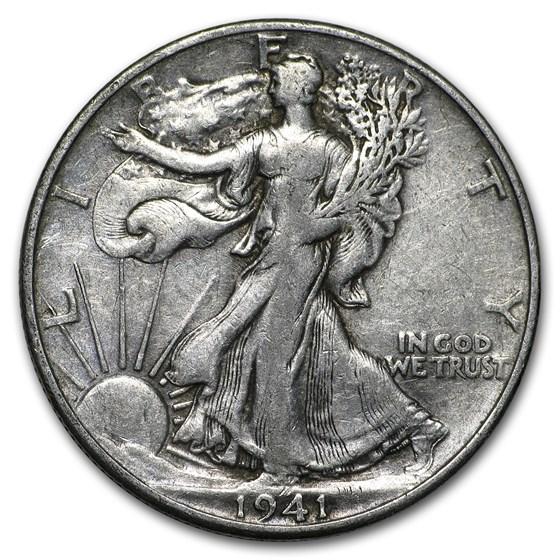 1941-D Walking Liberty Half Dollar VG/VF