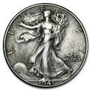 1941-D Walking Liberty Half Dollar XF