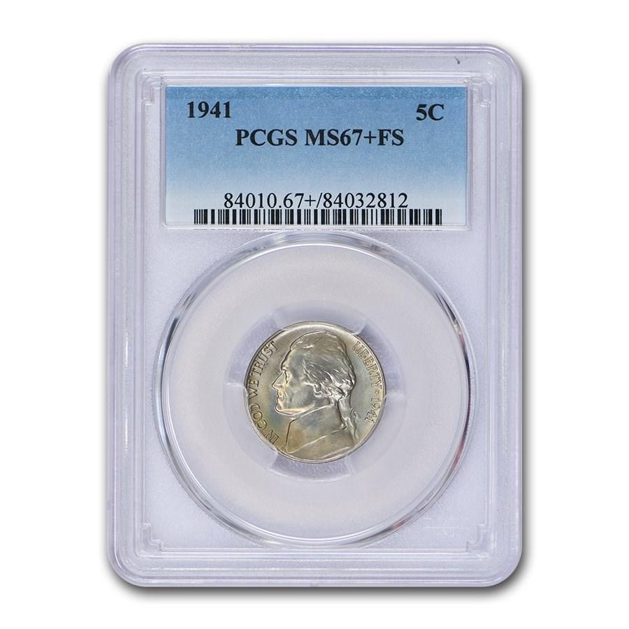 1941 Jefferson Nickel MS-67+ PCGS (FS)
