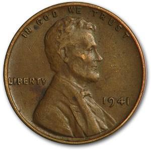 1941 Lincoln Cent Fine+