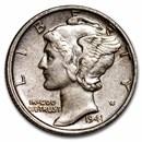 1941 Mercury Dime AU