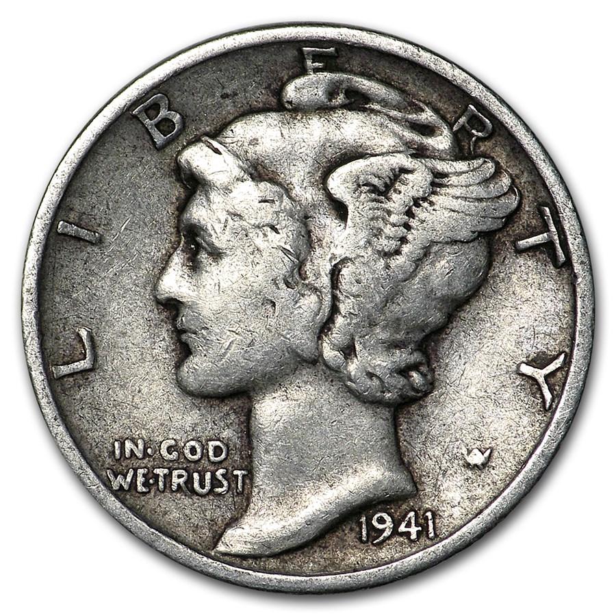 1941 Mercury Dime Good/VF