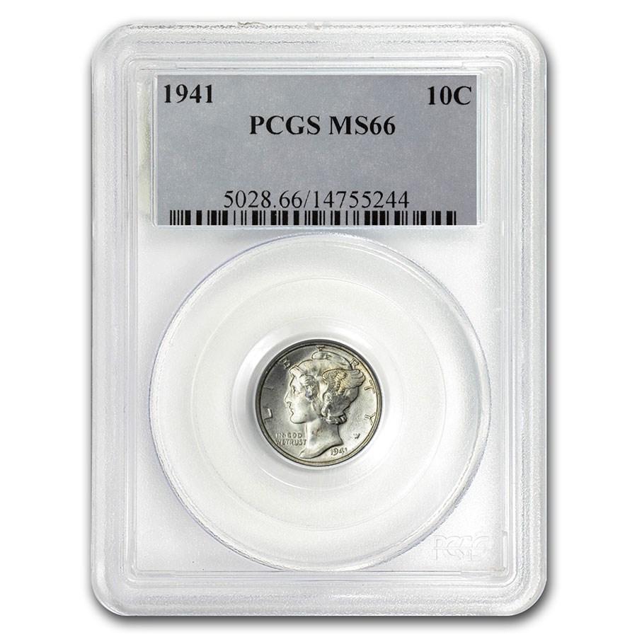 1941 Mercury Dime MS-66 PCGS