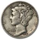 1941 Mercury Dime XF