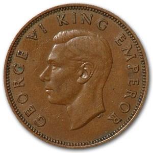 1941 New Zealand Half Penny XF+