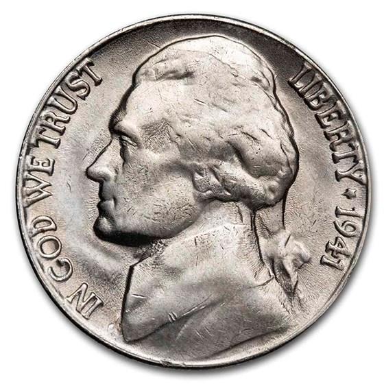 1941-S Jefferson Nickel BU