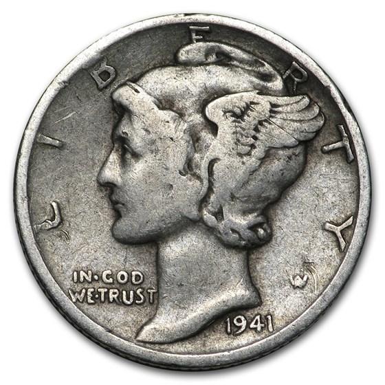 1941-S Mercury Dime Good/VF