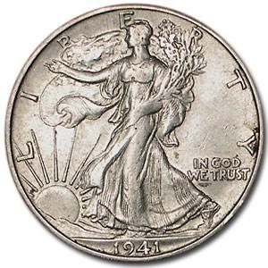1941-S Walking Liberty Half Dollar AU