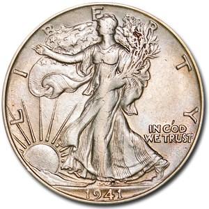 1941-S Walking Liberty Half Dollar Ch AU