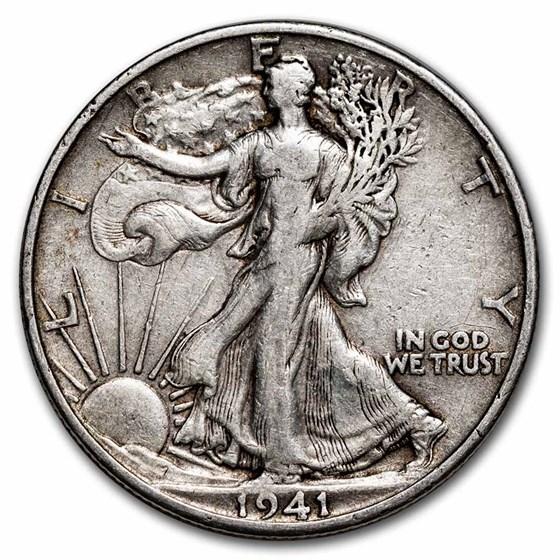 1941-S Walking Liberty Half Dollar Fine/VF