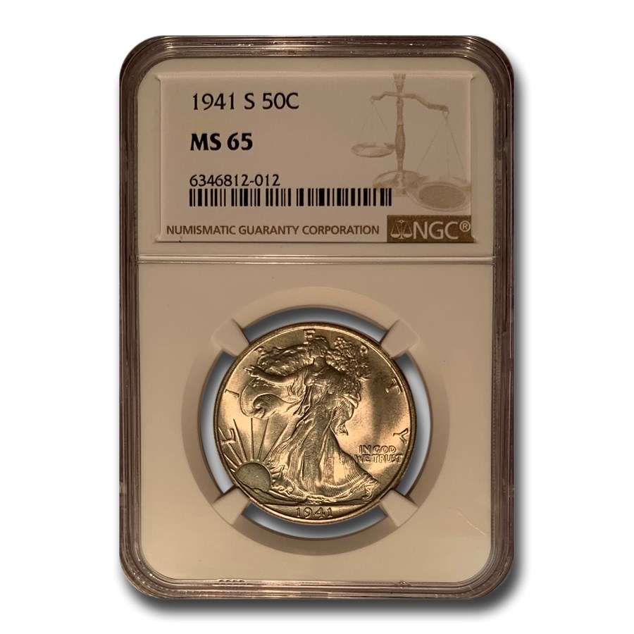 1941-S Walking Liberty Half Dollar MS-65 NGC