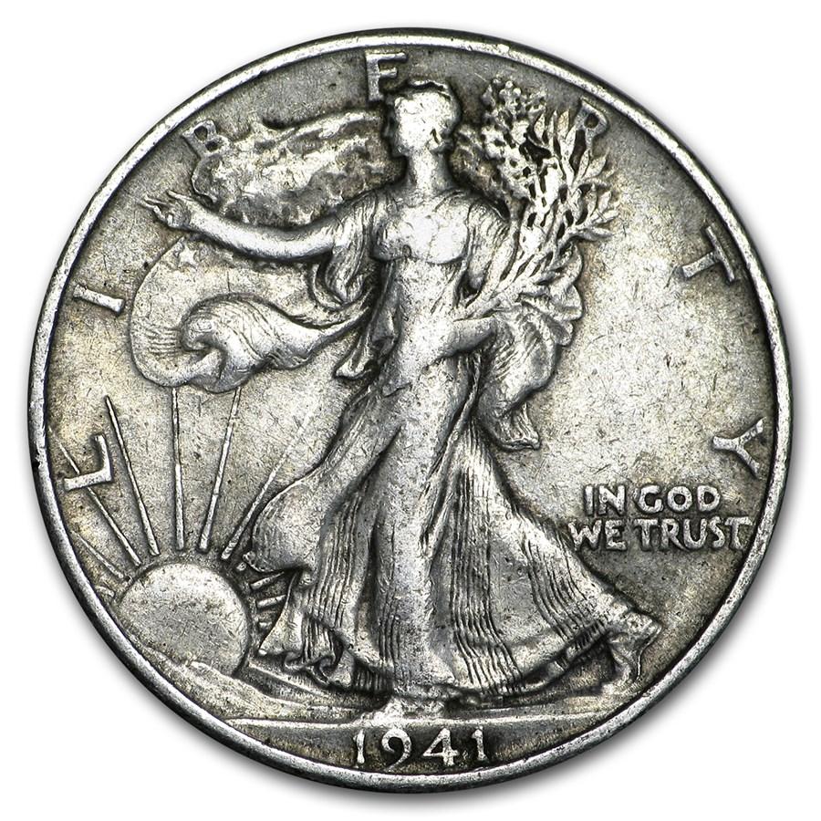 1941-S Walking Liberty Half Dollar XF