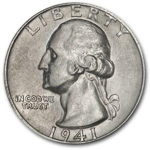 1941-S Washington Quarter AU