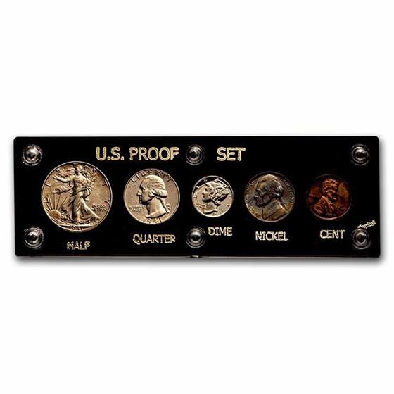 1941 U.S. Proof Set (Hard Plastic Holder, Abrasions)