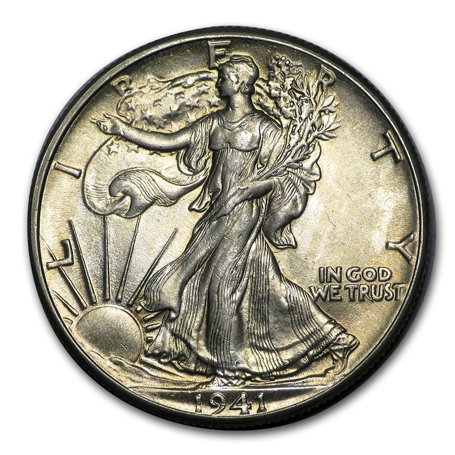 1941 Walking Liberty Half Dollar BU