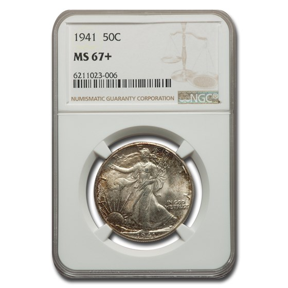 1941 Walking Liberty Half Dollar MS-67+ NGC