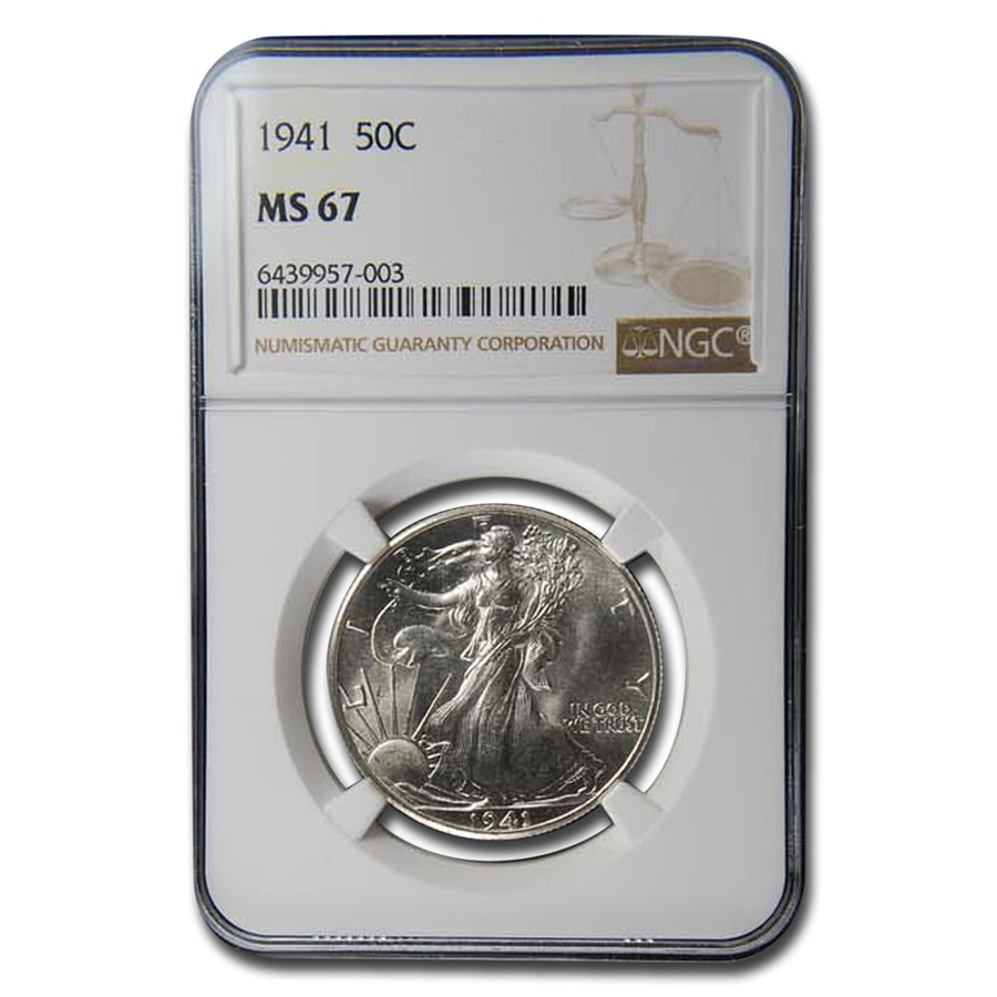 1941 Walking Liberty Half Dollar MS-67 NGC
