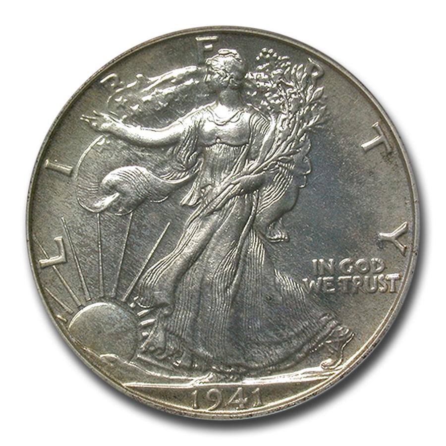 1941 Walking Liberty Half Dollar PR-65 PCGS