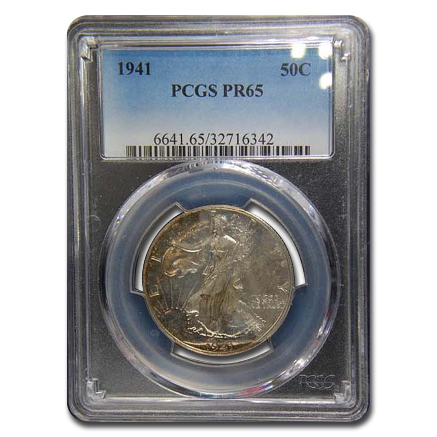 1941 Walking Liberty Half Dollar Proof-65 PCGS