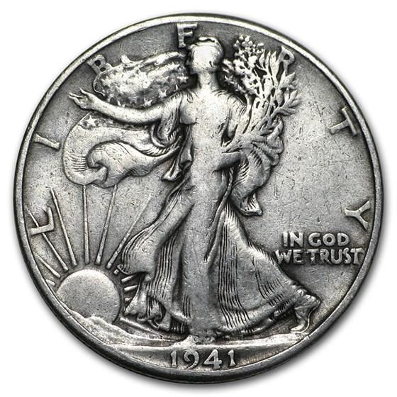 1941 Walking Liberty Half Dollar VG/VF