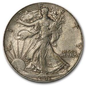 1941 Walking Liberty Half Dollar XF