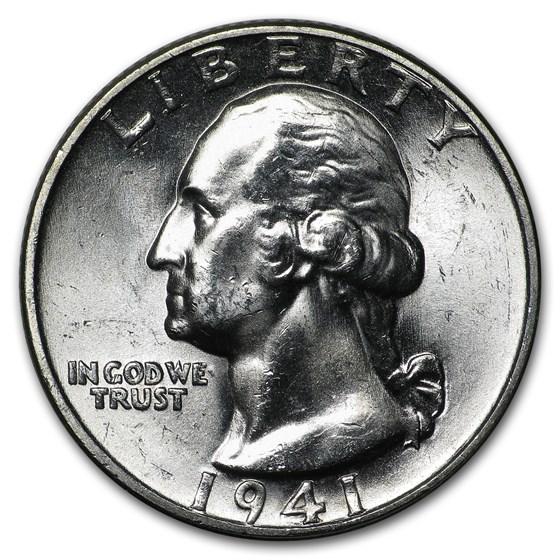 1941 Washington Quarter BU