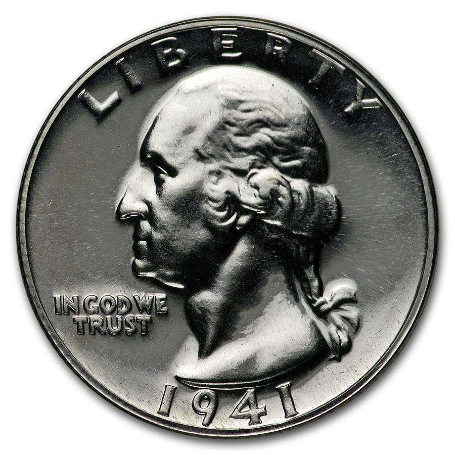 1941 Washington Quarter Gem Proof