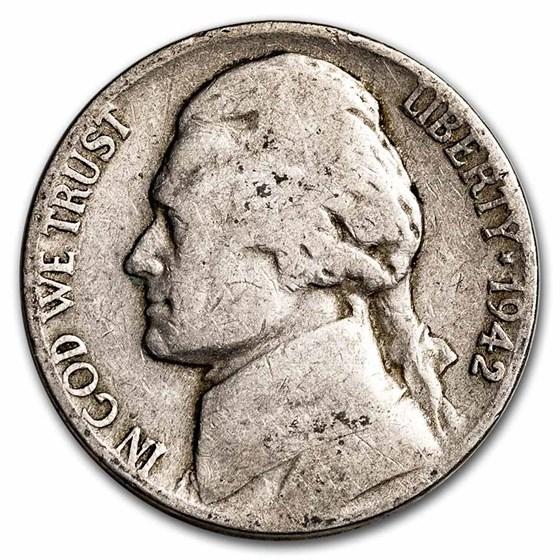 1942-D Jefferson Nickel Avg Circ