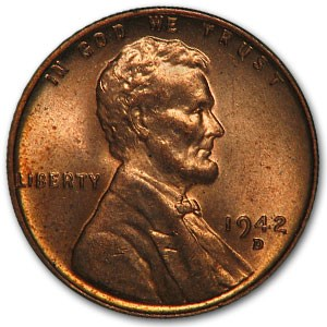 1942-D Lincoln Cent MS-63