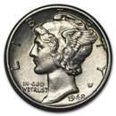 1942-D Mercury Dime BU