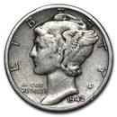 1942-D Mercury Dime Good/VF