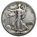 1942-D Walking Liberty Half Dollar Fine/VF