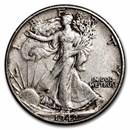 1942-D Walking Liberty Half Dollar XF