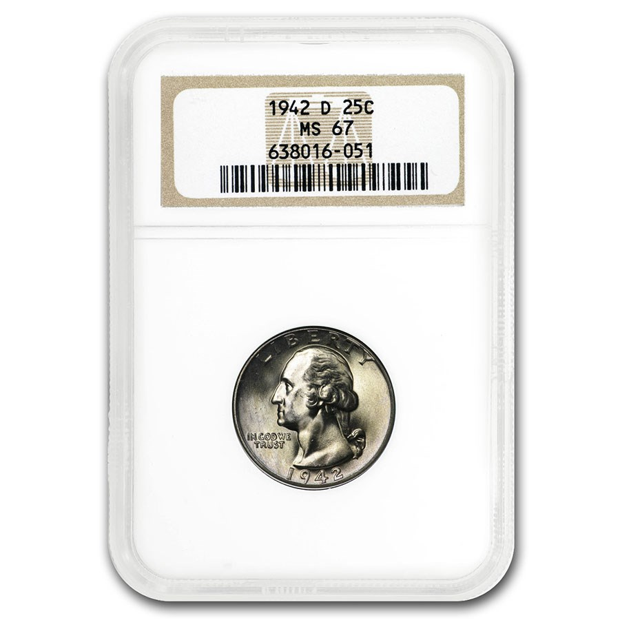 1942-D Washington Quarter MS-67 NGC